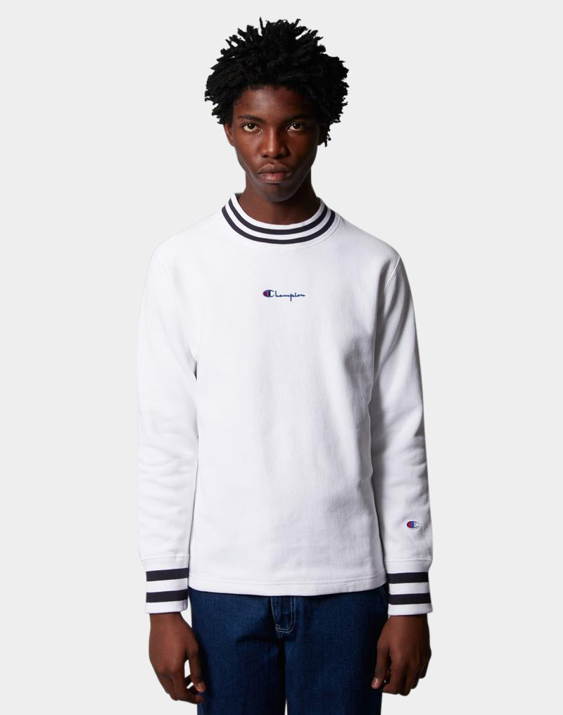 Champion - High Neck Sweatshirt White