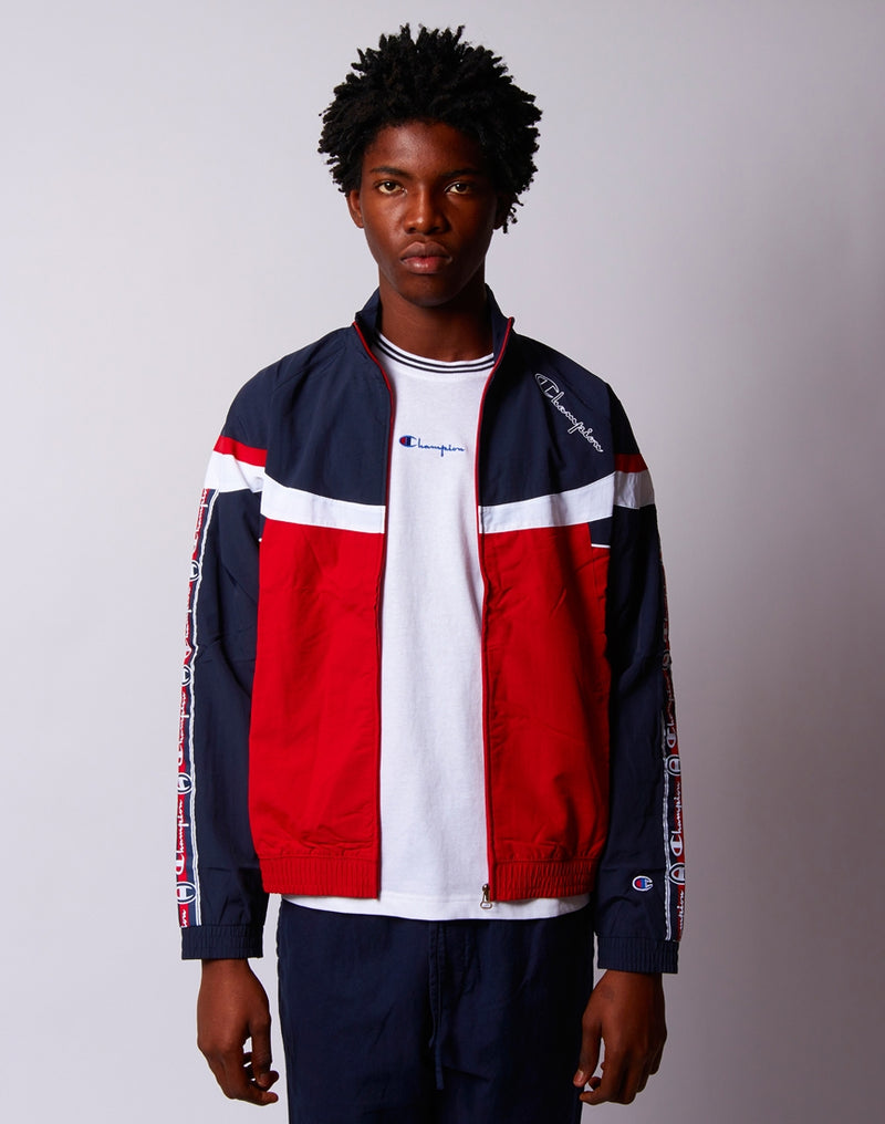 Champion - Peached Full Zip Jacket Black White & Red