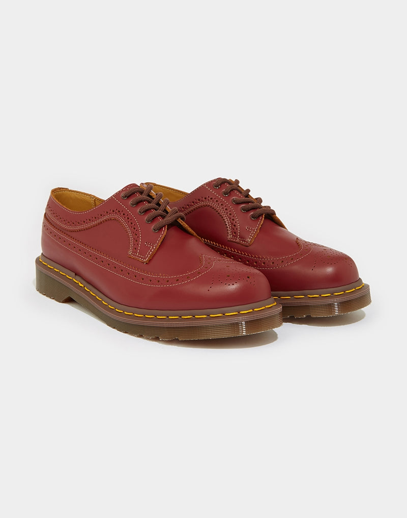 Dr Martens - Made in England Vintage 3989 Brogue Oxblood Red