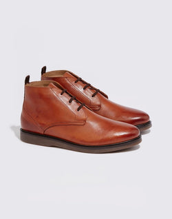 Hudson - Calverstone Leather Chukka Boots Tan