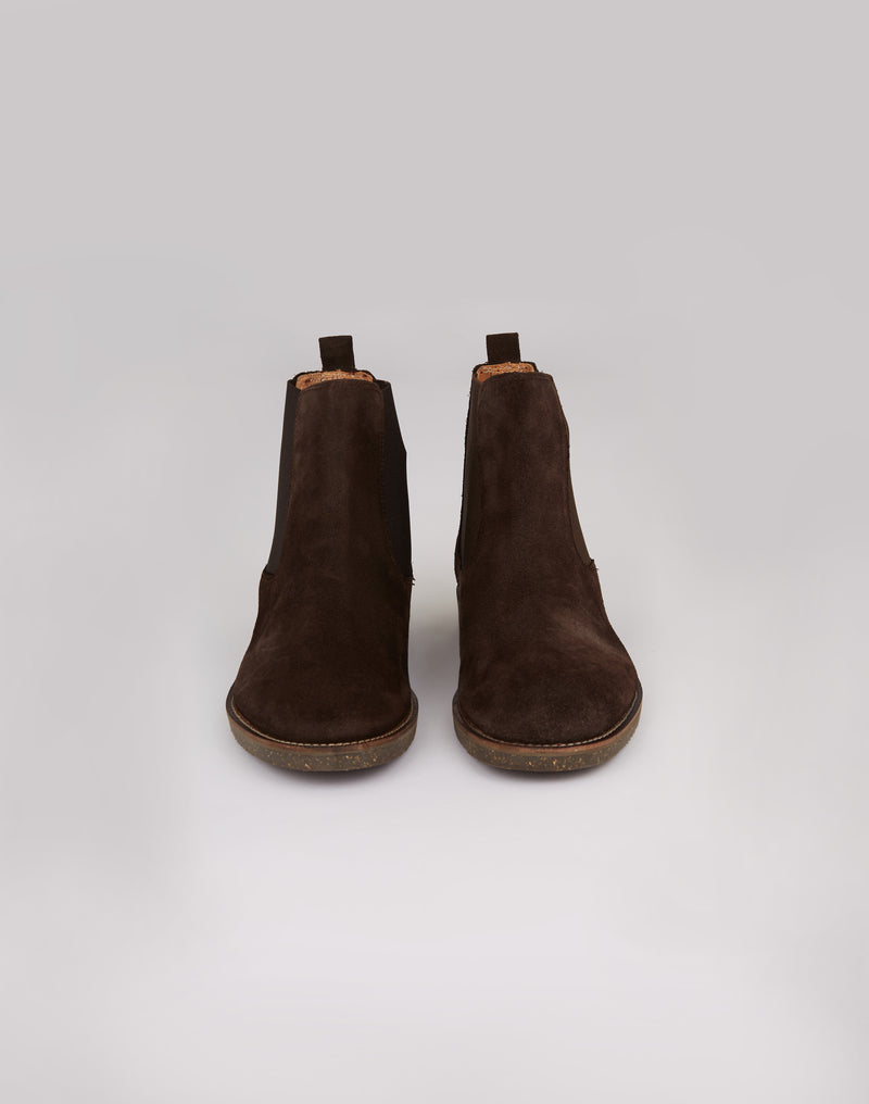 Hudson - Chelsea Boots in Brown Suede