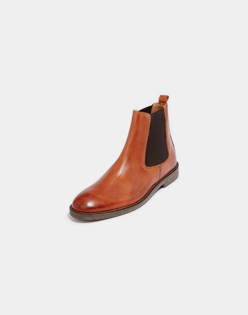 Hudson - Chelsea Boots in Tan Leather