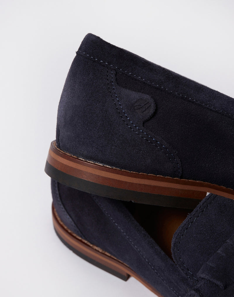 Hudson - Alloa Suede Loafer Navy