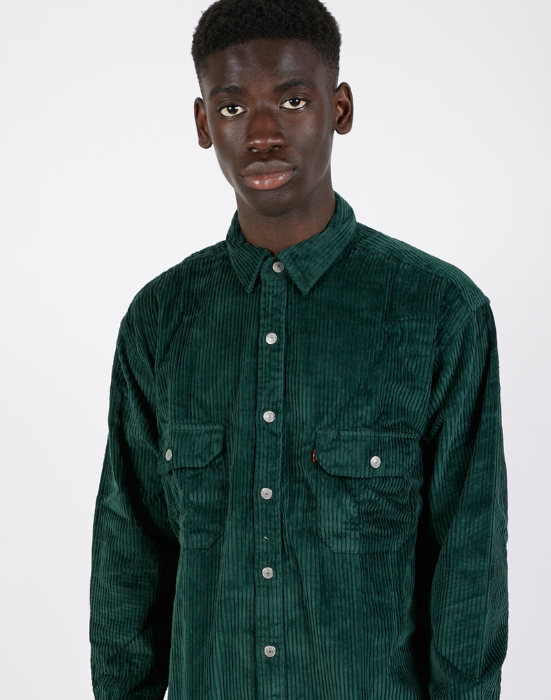Levi's - Oversized Worker Shirt in Cord Green
