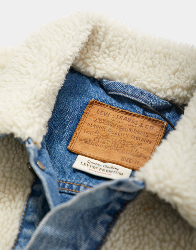 Levi's - Sherpa Panel Trucker Jacket Blue