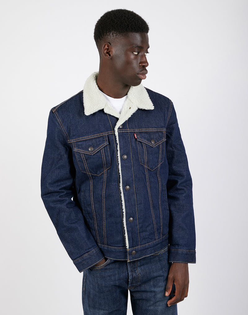 Levi's - Type 3 Sherpa Trucker Denim Jacket Rockridge Blue