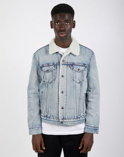 Levi's - Type 3 Sherpa Trucker Denim Jacket Stonewash Blue
