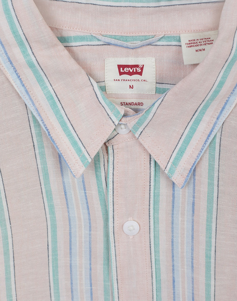 Levi's - Short Sleeve Striped Sunset Pocket Shirt White & Blue