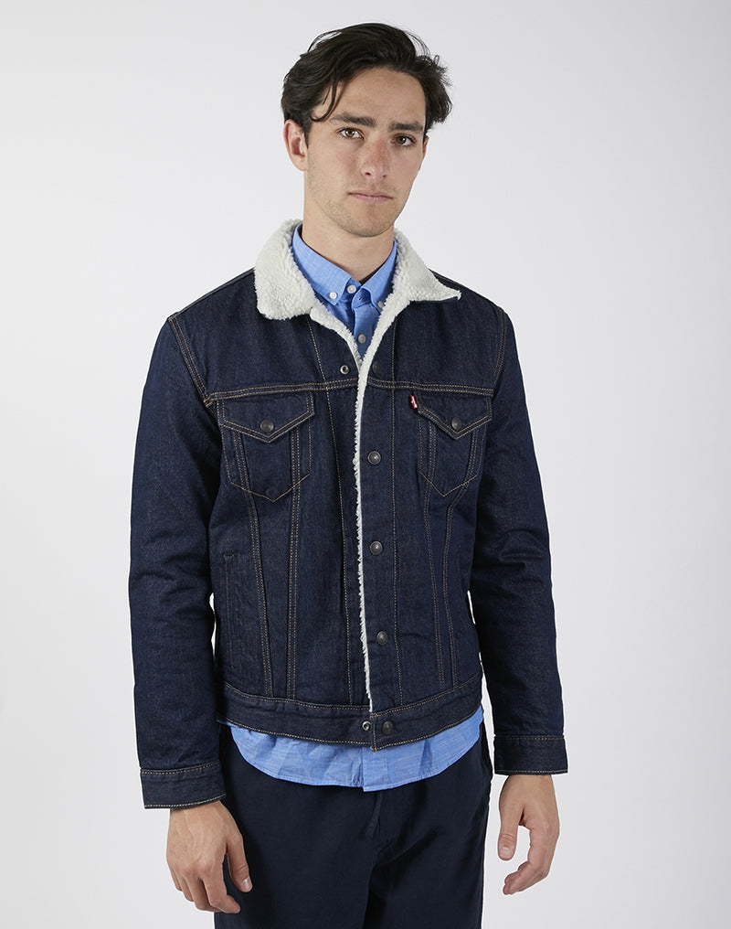 Levi's - Type 3 Sherpa Trucker Jacket Dark Blue
