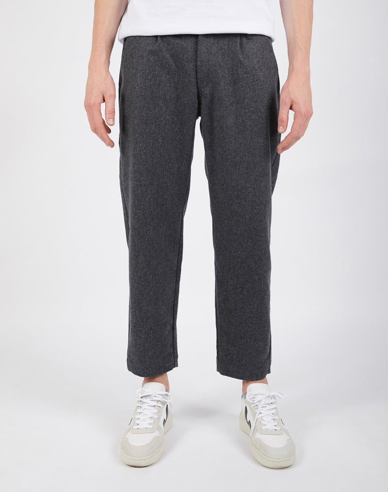 Lois Jeans - Leon Flannel Trousers in Loose Fit Grey