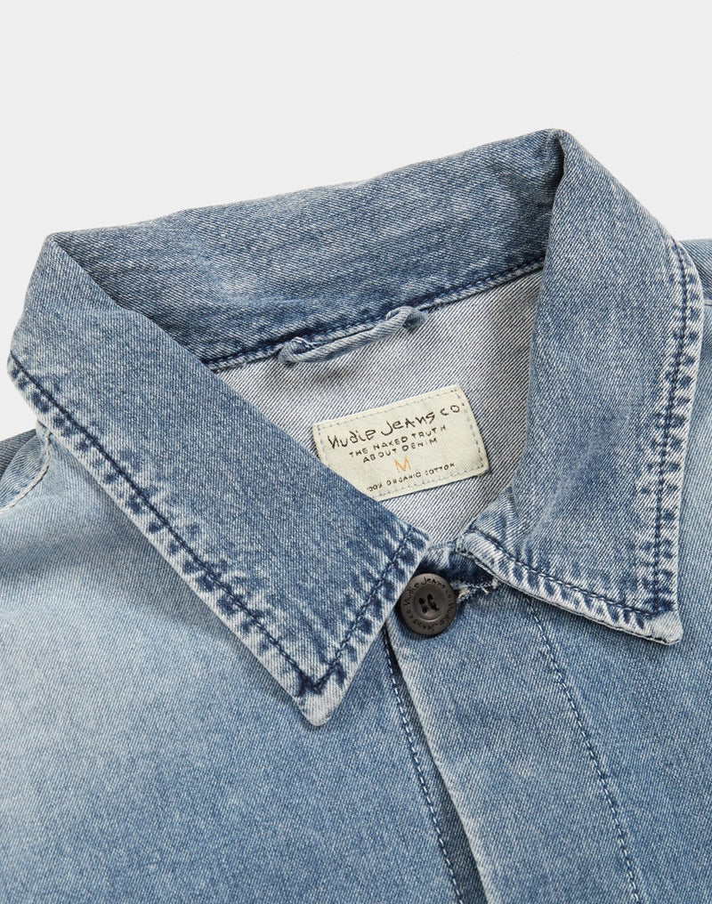 Nudie Jeans Co - Sten Denim Overshirt Light Blue