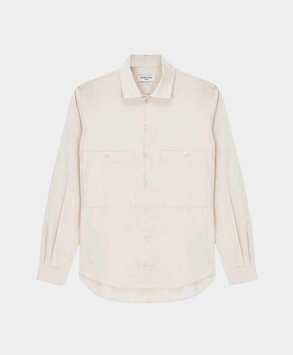 YMC - Doc Savage Babycord Shirt Ecru