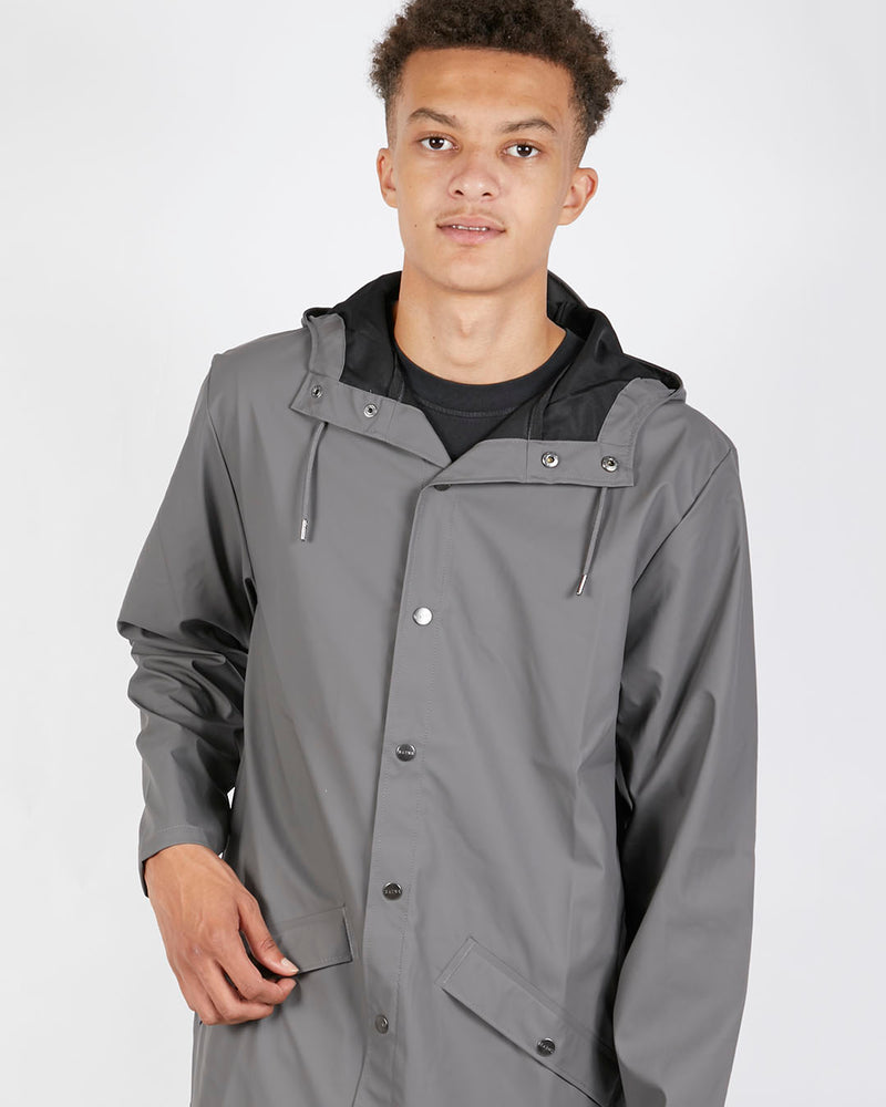 Rains - Long Jacket Charcoal