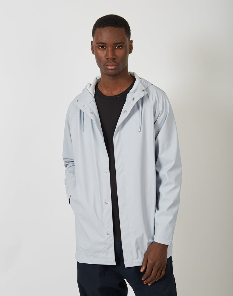Rains - Short Coat Ice Grey