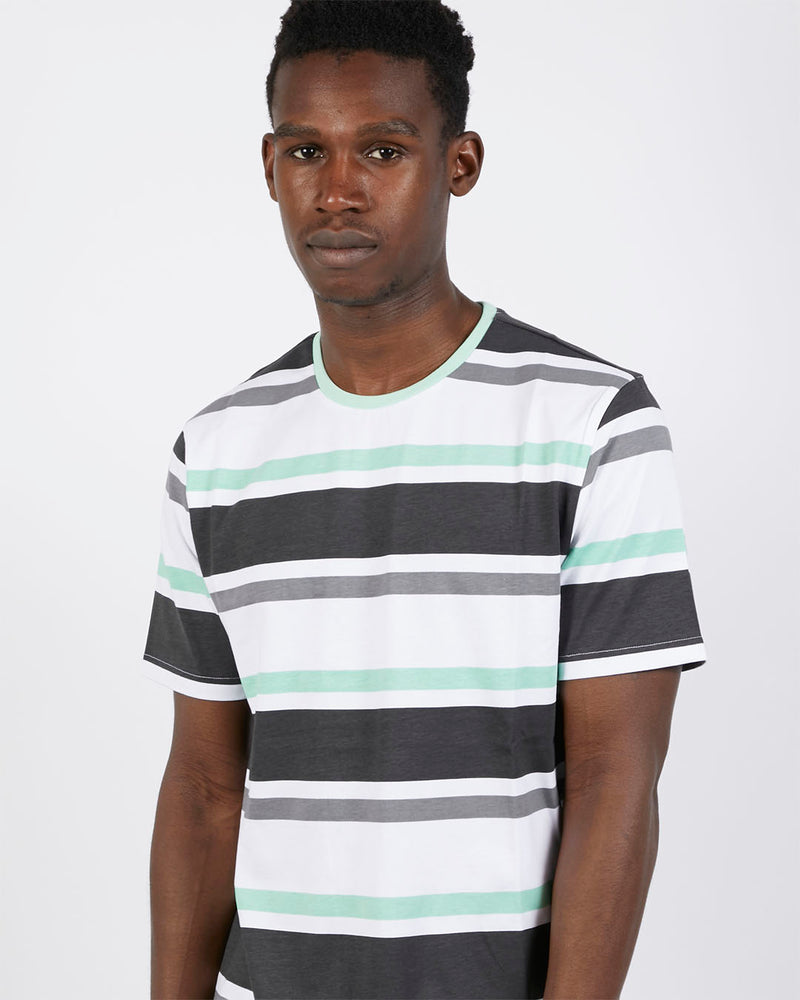 The Idle Man - Block Stripe T-Shirt Black