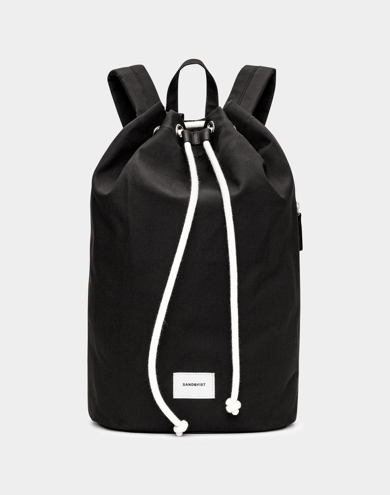 Sandqvist - Evert Drawstring Backpack Black