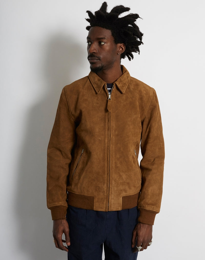 Schott NYC - LC YALES  Classic Suede Jacket Rust