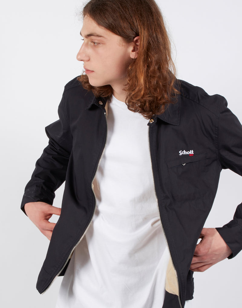 Schott NYC - Lenox Embroidered Motor Jacket Navy