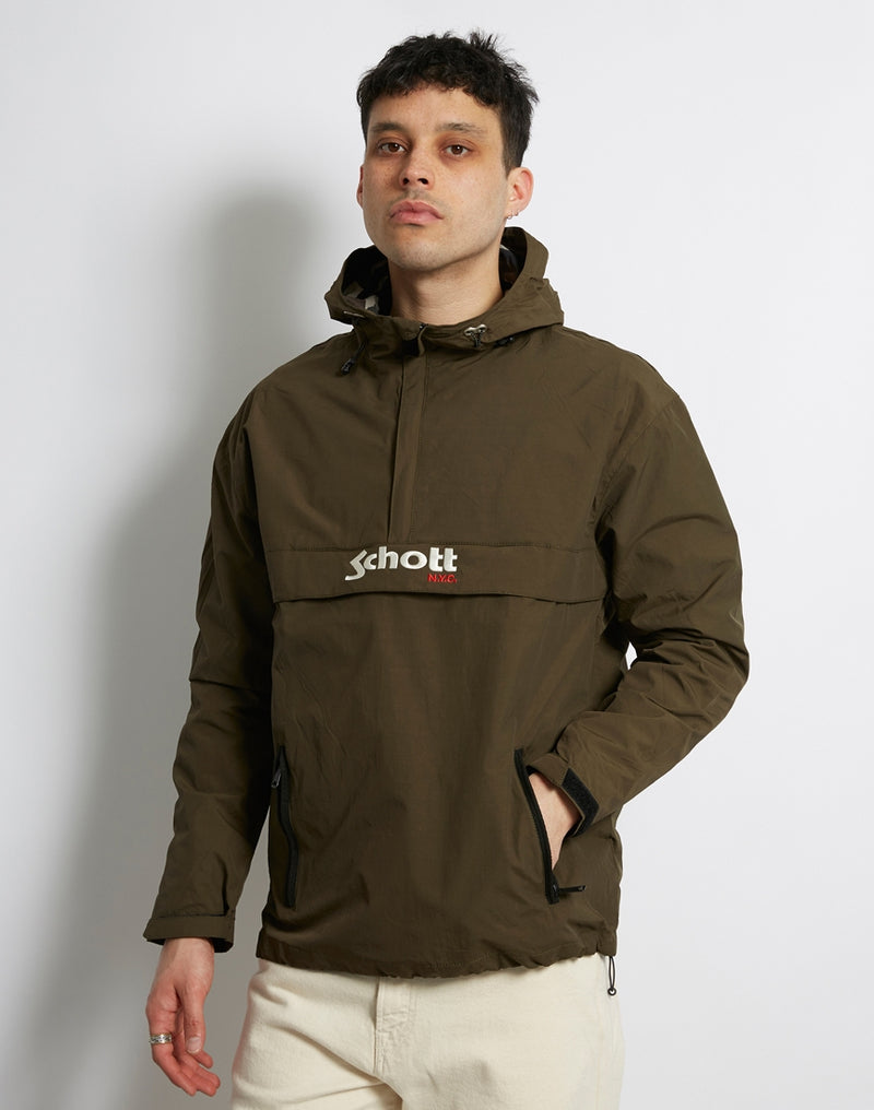 Schott NYC - Pikes Hooded Anorak Dark Khaki