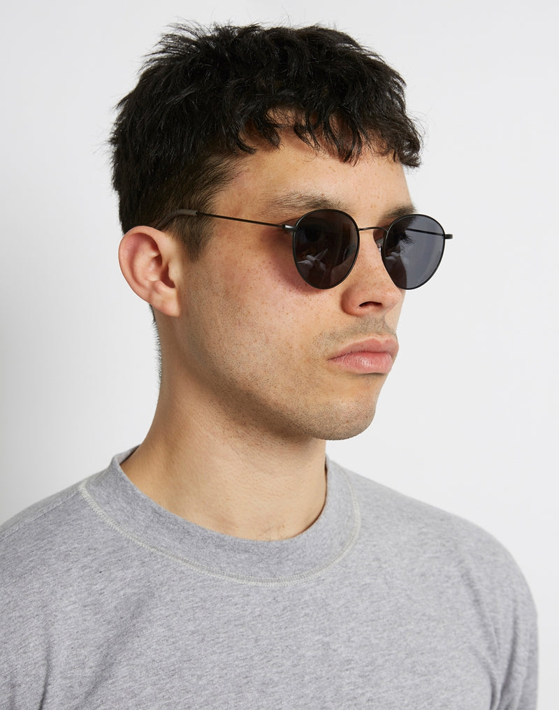 The Idle Man - Classic Round Sunglasses Black
