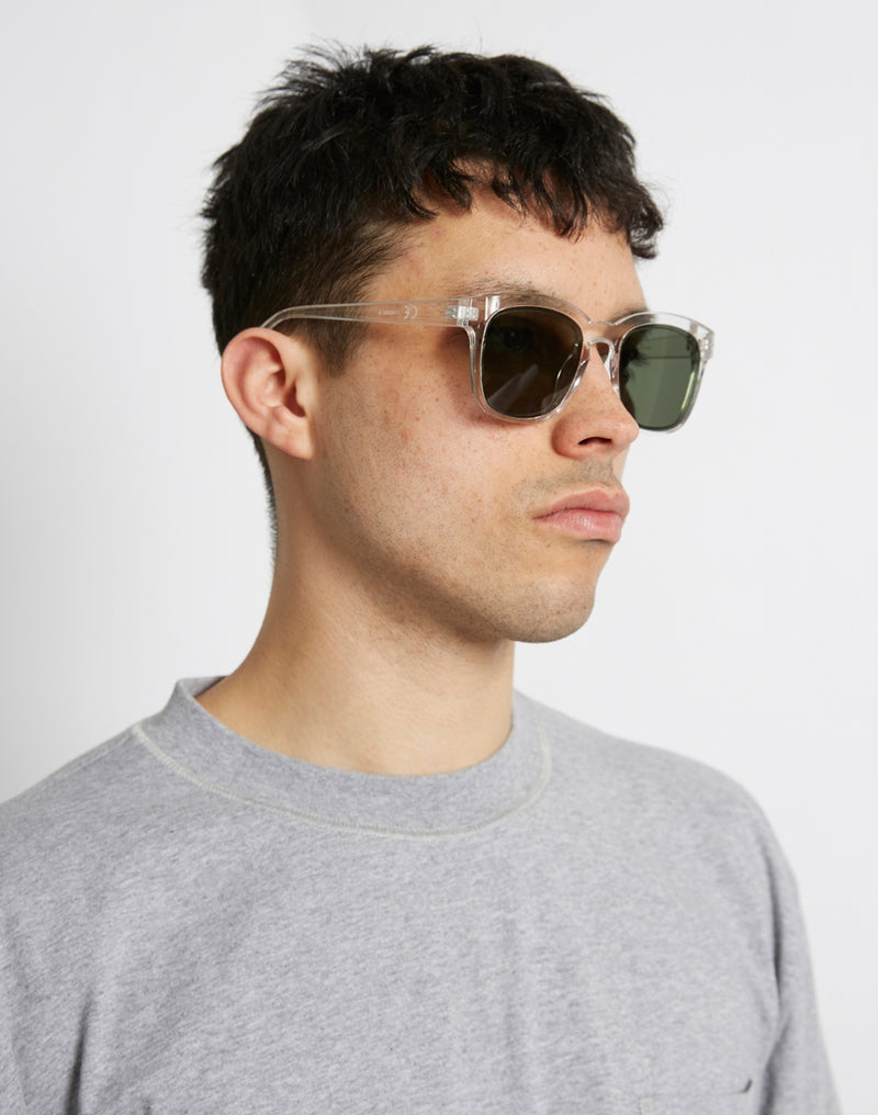 The Idle Man - Asteroid Wayfarer Sunglasses Clear