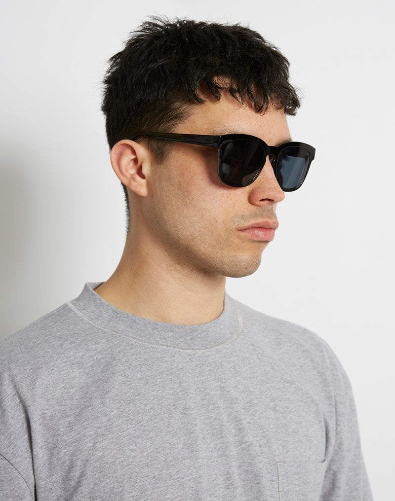 The Idle Man - Asteroid Wayfarer Sunglasses Black