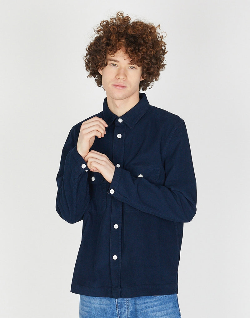 Albam - GD Cord Shirt Navy