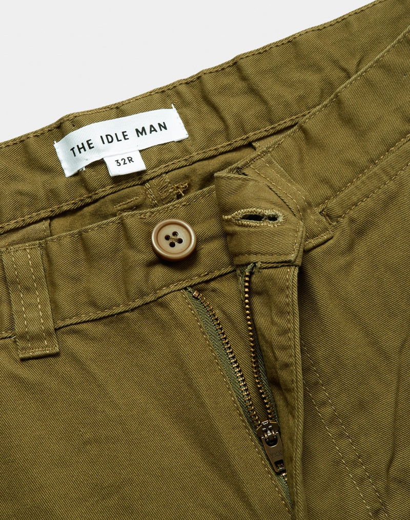 The Idle Man - Chino Shorts Khaki