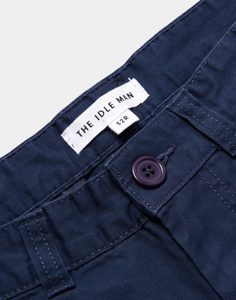 The Idle Man - Chino Shorts Navy