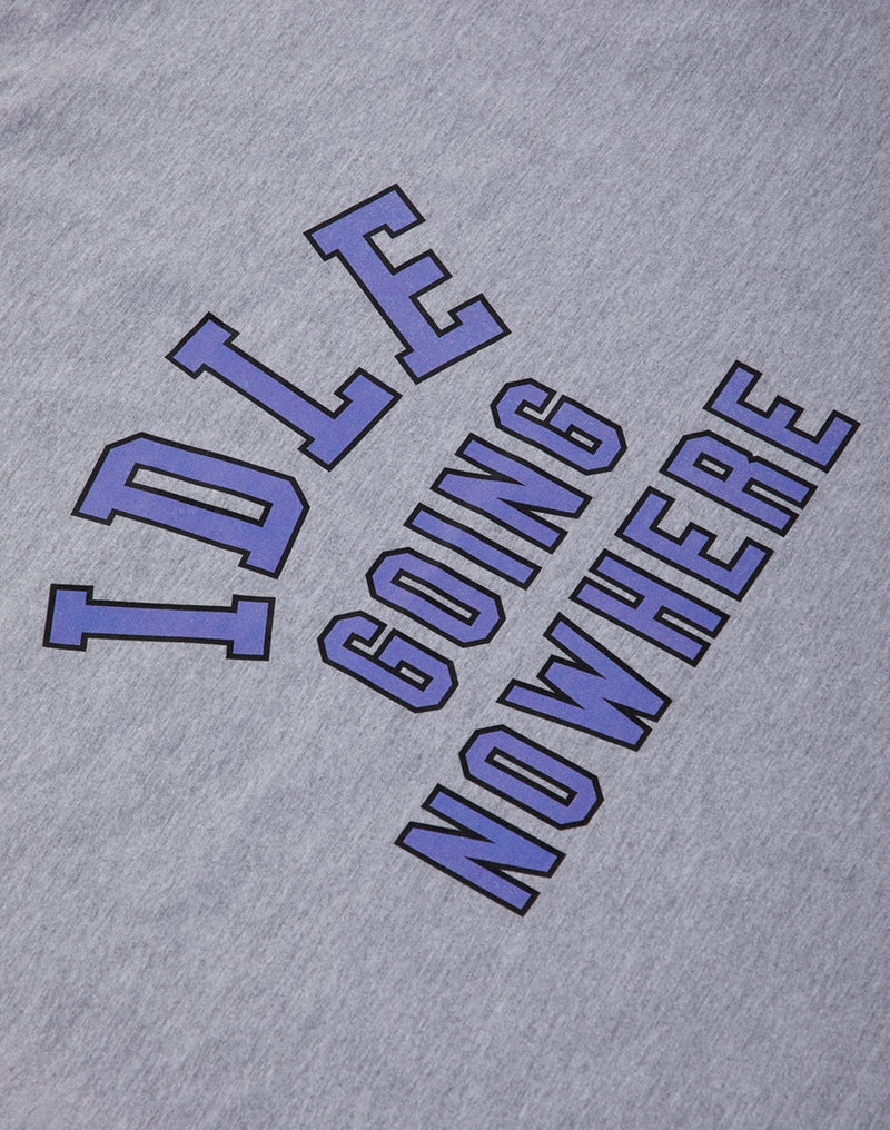 The Idle Man - College Nowhere T-Shirt Grey