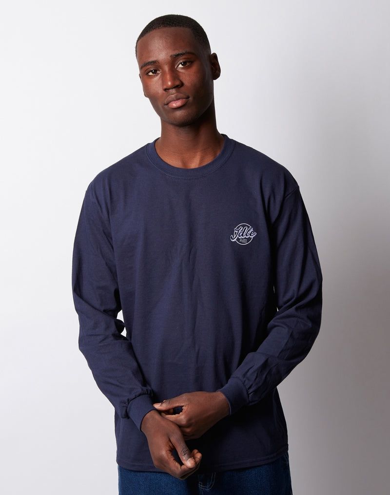 The Idle Man - Jimmy Long Sleeve T-Shirt Navy