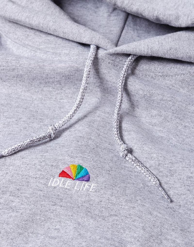 The Idle Man - Idle Life Embroidered Hoodie Grey