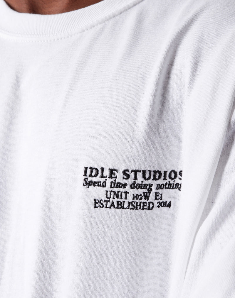 The Idle Man - Studio LS T-Shirt White