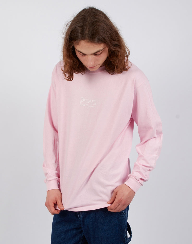 The Idle Man - Synonym Long Sleeve T-Shirt Pink