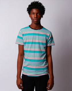 The Idle Man - Pastel Retro Stripes T-shirt