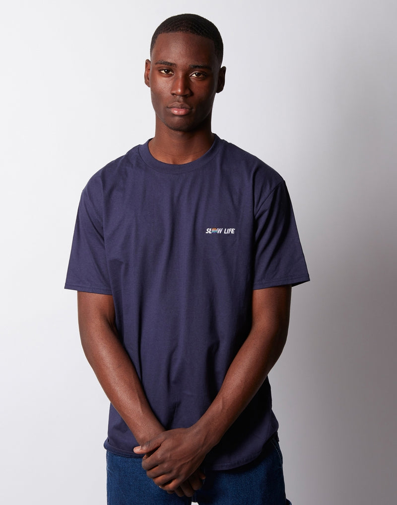 The Idle Man - Slow Life T-Shirt Navy