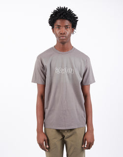 The Idle Man - Slow Life Print T-Shirt Charcoal
