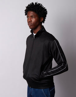 The Idle Man - Track Top Black with white piping