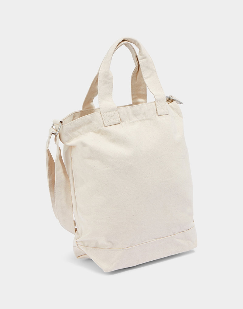 The Idle Man - Canvas Day Bag Natural