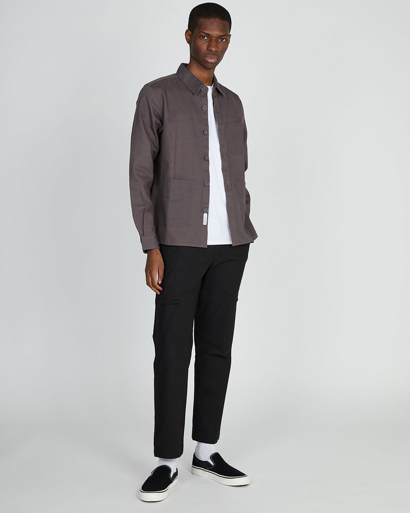 The Idle Man - Workwear Chore Jacket Grey
