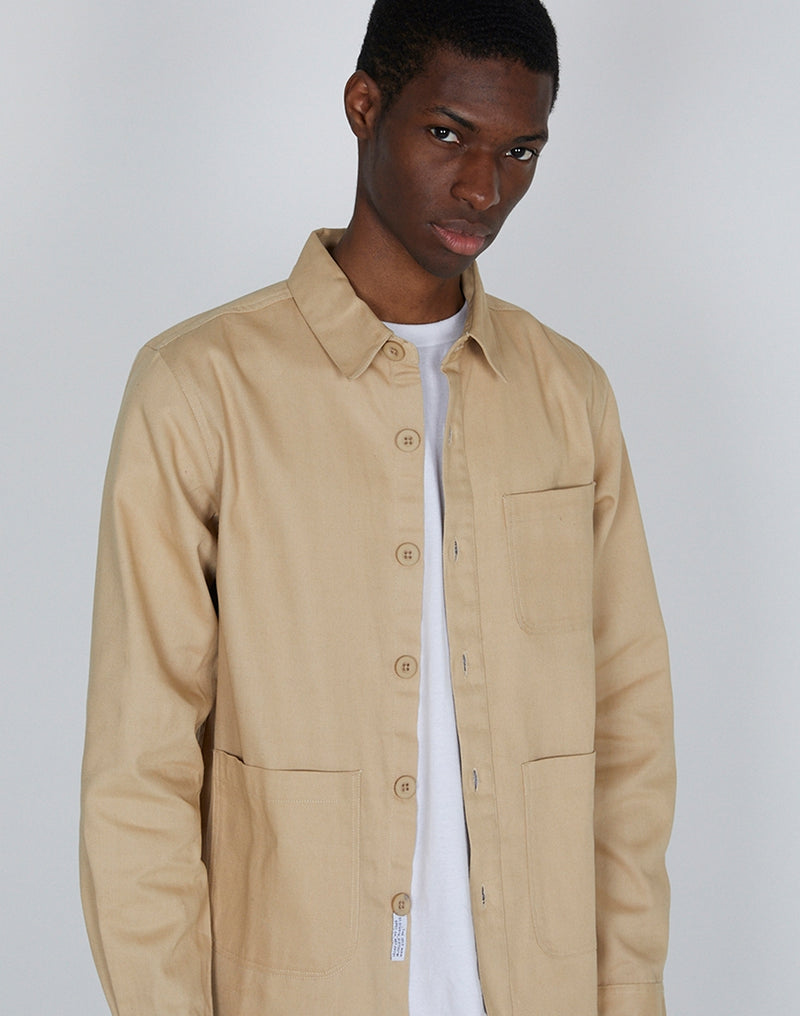 The Idle Man - Workwear Chore Jacket Stone