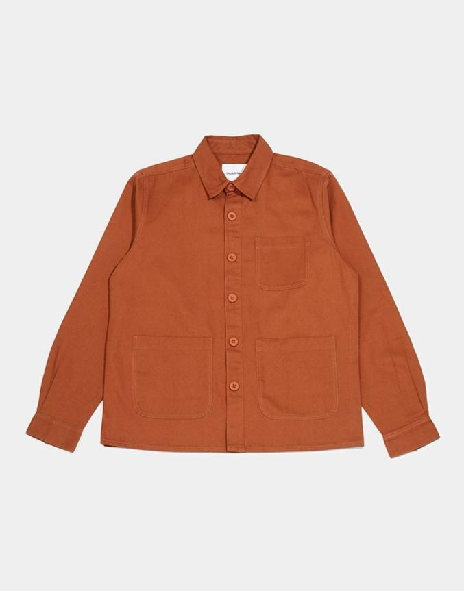 The Idle Man - Workwear Chore Jacket Tobacco