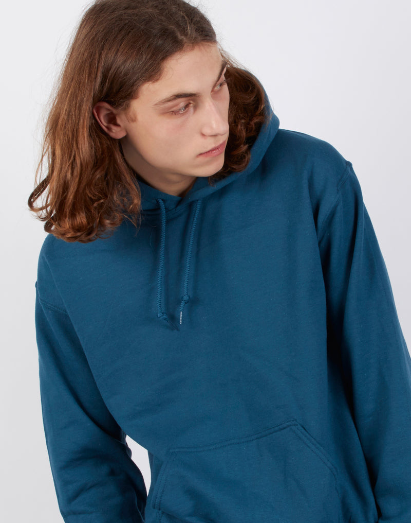 The Idle Man - Classic Overhead Hoodie Teal