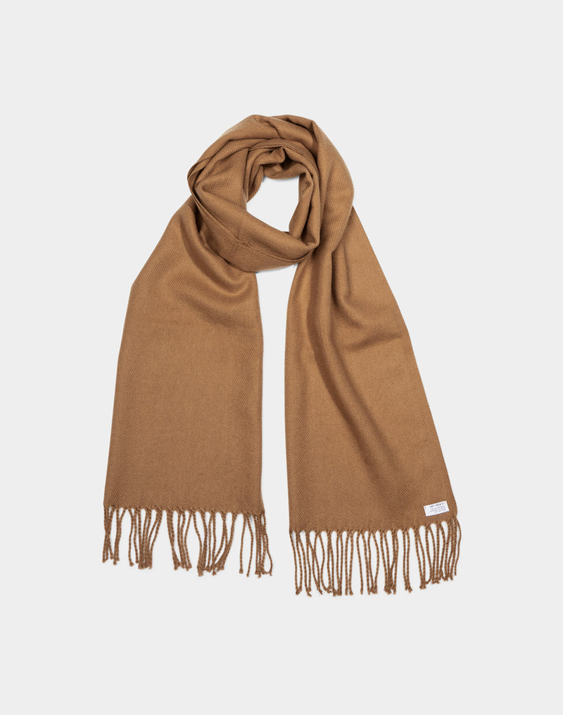 The Idle Man - Classic Woven Scarf Biscuit