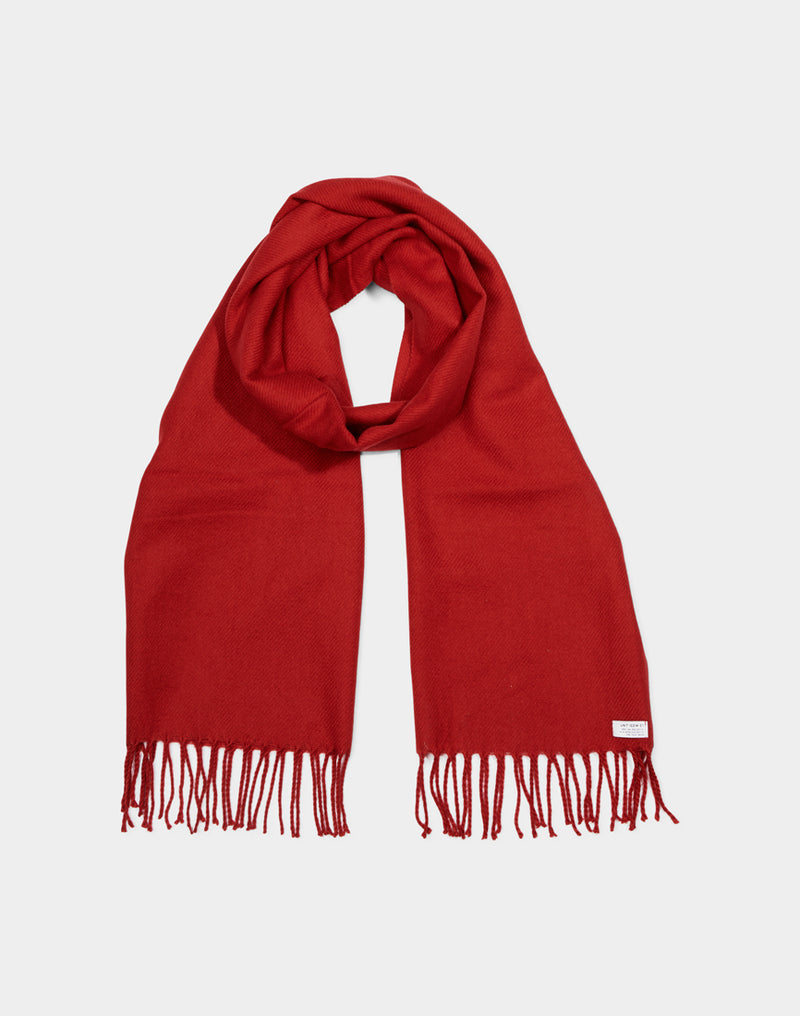 The Idle Man - Classic Woven Scarf Red