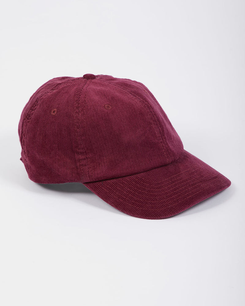 The Idle Man - Corduroy Cap Burgundy