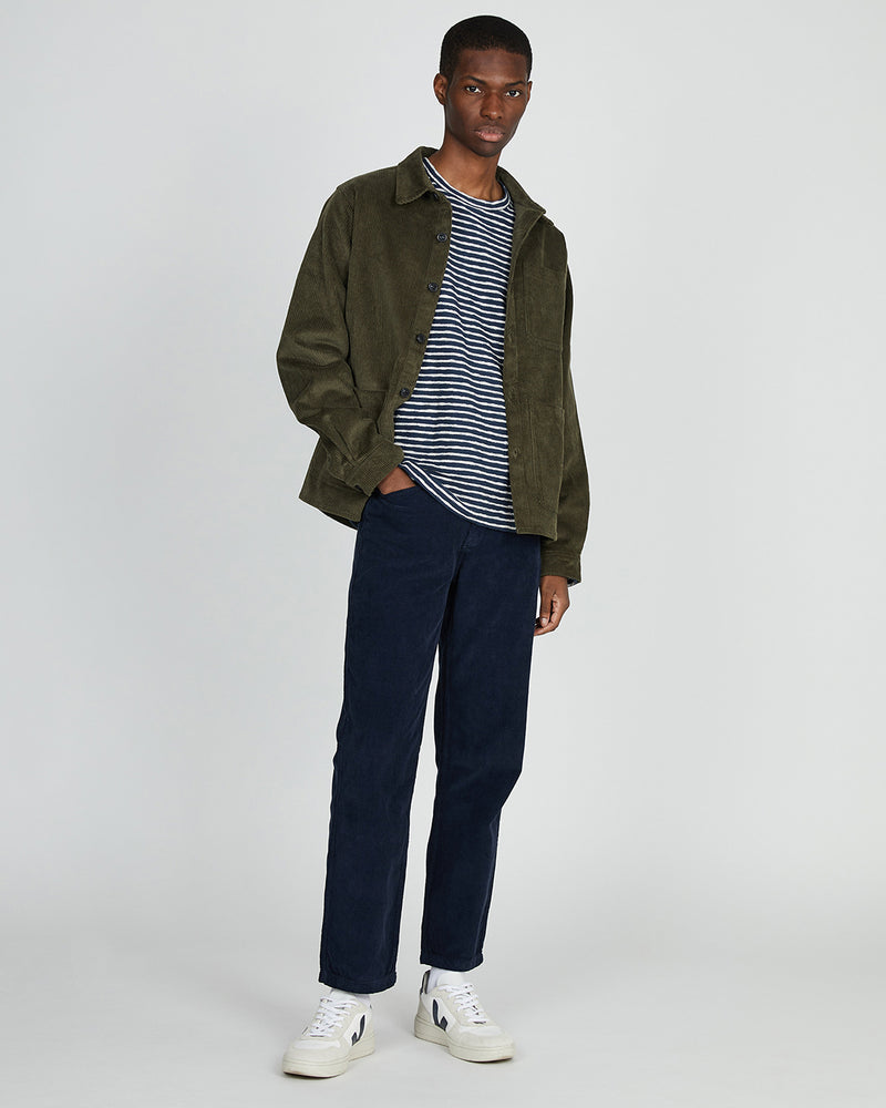 The Idle Man - Corduroy Chore Jacket Khaki