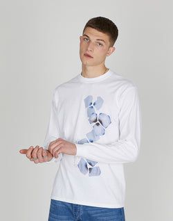 The Idle Man - Digital Paw Long Sleeve T-Shirt White
