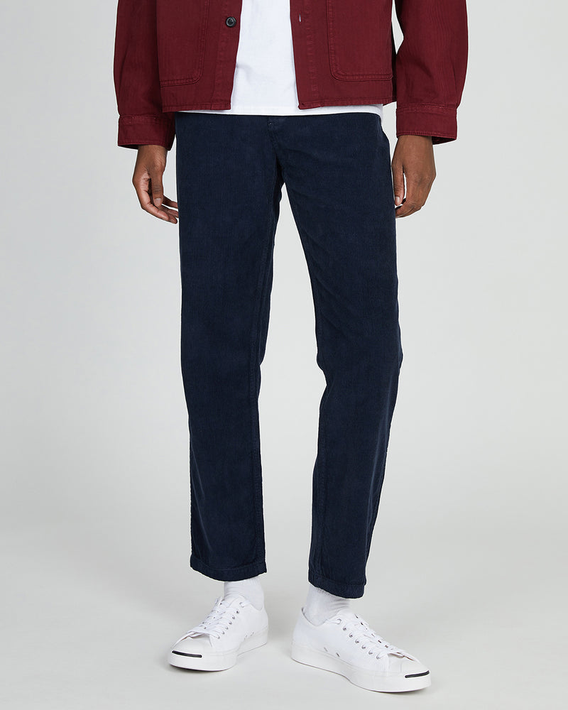 The Idle Man - Five Pocket Cord Trouser Navy