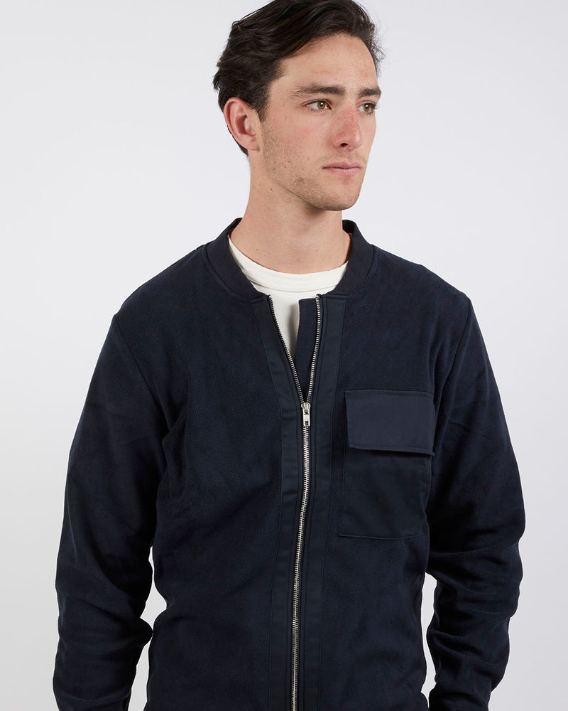 The Idle Man - Fleece Bomber Navy